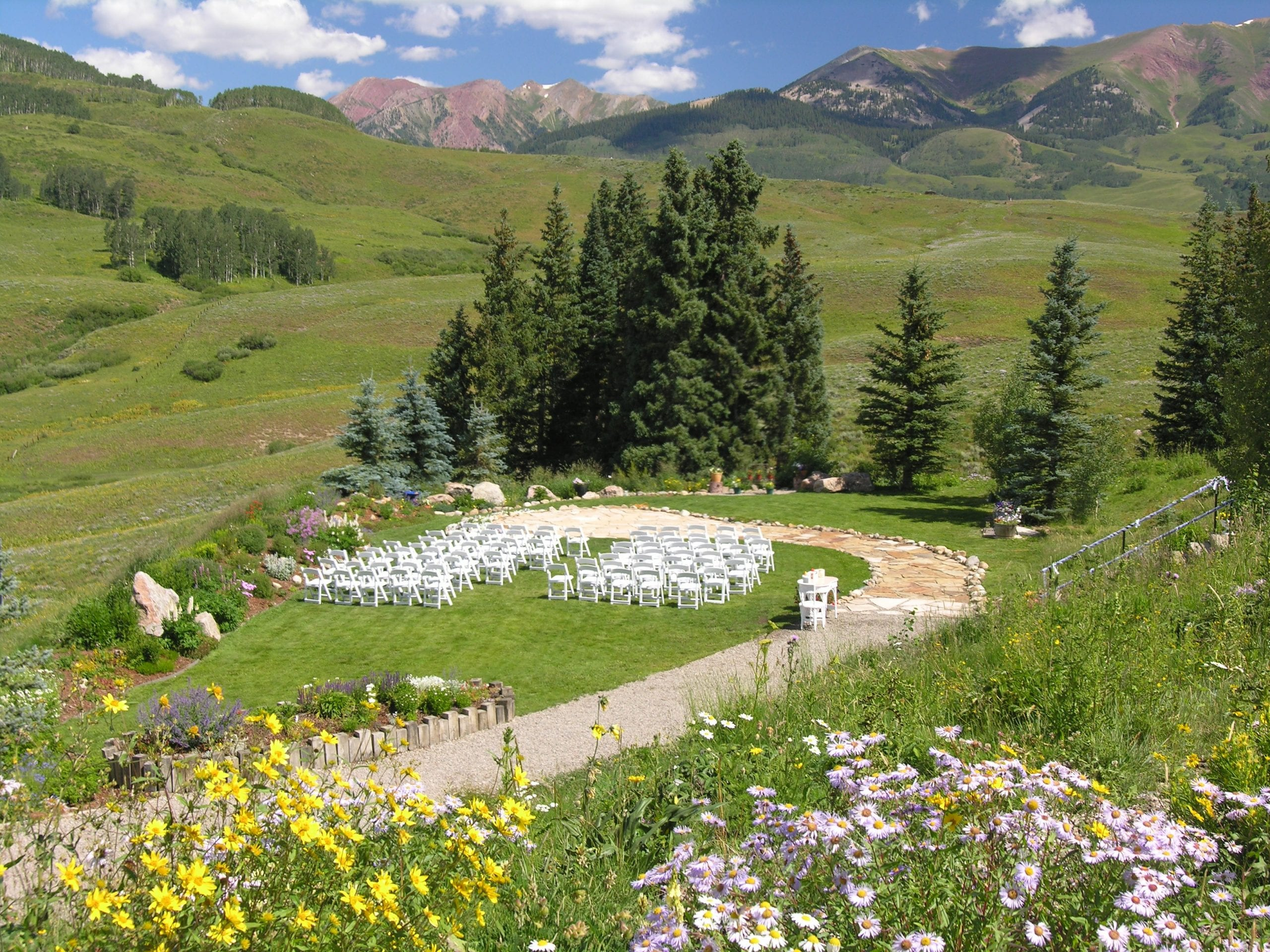 Mt Crested Butte Wedding Garden